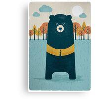 Automn bear Canvas Print