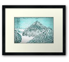 white tropical beach Framed Print