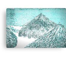 white tropical beach Canvas Print