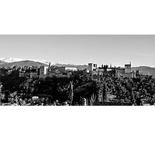 Alhambra black and white Photographic Print