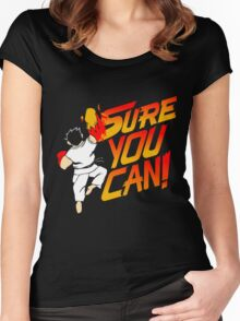 SURE YOU CAN! Women's Fitted Scoop T-Shirt