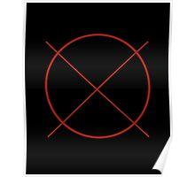 Circle Cross Poster