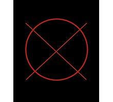 Circle Cross Photographic Print