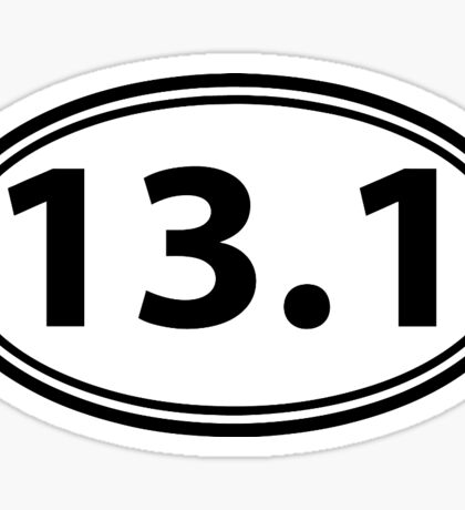 13.1 HALF MARATHON STICKERS DECAL OVAL Sticker