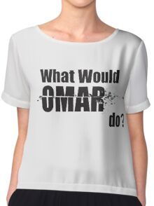 """What Would Omar Do? """"The Wire"""" Chiffon Top"""
