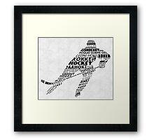 Hockey Languages Typography Framed Print