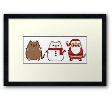 Cute Christmas Pupsheens Framed Print