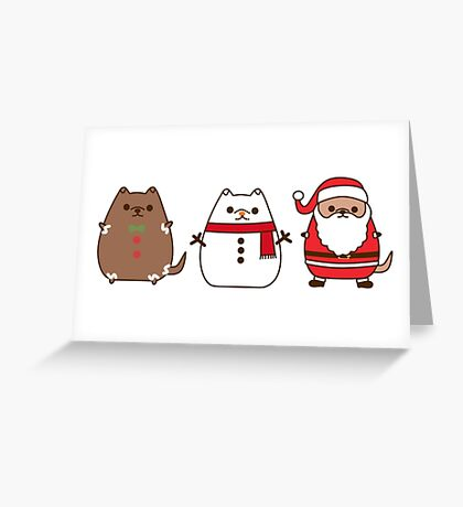Cute Christmas Pupsheens Greeting Card