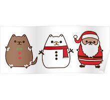 Cute Christmas Pupsheens Poster
