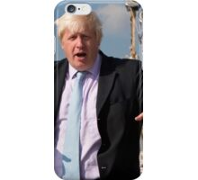 London Mayor Boris Johnson visits Tenacious in Woolwich iPhone Case/Skin