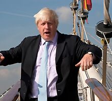 London Mayor Boris Johnson visits Tenacious in Woolwich by Keith Larby