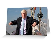 London Mayor Boris Johnson visits Tenacious in Woolwich Greeting Card