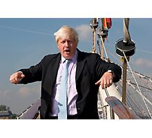 London Mayor Boris Johnson visits Tenacious in Woolwich Photographic Print