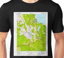 USGS TOPO Map California CA Fallen Leaf Lake 297459 1955 62500 geo Unisex T-Shirt