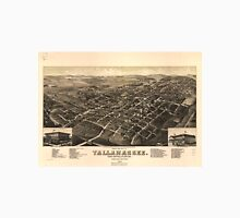 Vintage Pictorial Map of Tallahassee FL (1885) Unisex T-Shirt