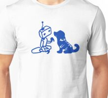 Robot playing with dog Unisex T-Shirt