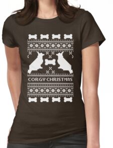 Corgi Christmas sweater  Womens Fitted T-Shirt