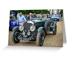 Chris Kingsbury's Bentley Speed Six driven by HRH Prince Michael of Kent Greeting Card