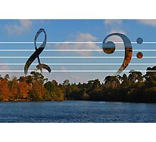 Treble and Bass Clef Stave Fragmentation Photographic Print