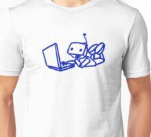 Robot using laptop Unisex T-Shirt