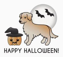 Golden Retriever Halloween Cartoon Dog Kids Clothes