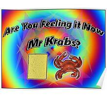 Are You Feeling It Now Mr Krabs? (SpongeBob) Poster