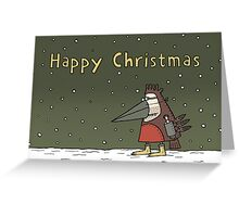 The Happy Christmas Robin Greeting Card