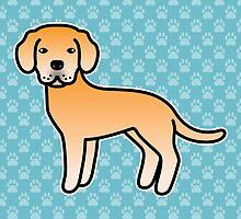 Yellow Labrador Retriever Cartoon Dog by destei