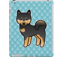 Black And Tan Shiba Inu Dog Cartoon iPad Case/Skin