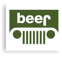 Drink beer in a truck or jeep. Canvas Print