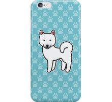 White Shiba Inu Dog Cartoon iPhone Case/Skin