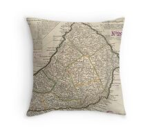 Vintage Map of Barbados (1736)  Throw Pillow