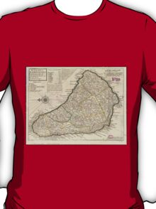 Vintage Map of Barbados (1736)  T-Shirt