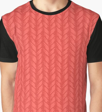 Decorative red knit seamless pattern. Graphic T-Shirt