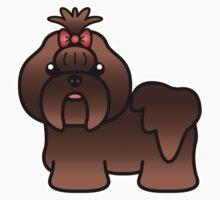 Liver Shih Tzu Cartoon Dog Kids Clothes