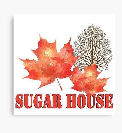 Maple Syrup Sugar House Canvas Print