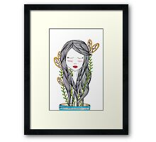 Growing up requires a lot of water Framed Print