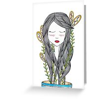 Growing up requires a lot of water Greeting Card