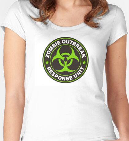 ZOMBIE OUTBREAK RESPONSE UNIT Women's Fitted Scoop T-Shirt