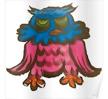 Crazy Owl Poster