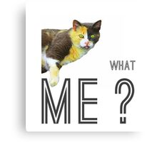 What - me? (with text) Canvas Print