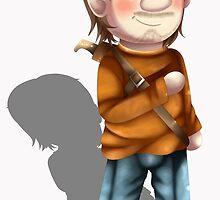 Cartoon Luke The Walking Dead Game by ShinyhunterF