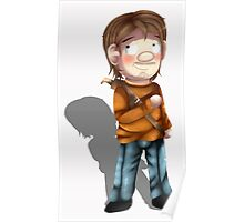 Cartoon Luke The Walking Dead Game Poster