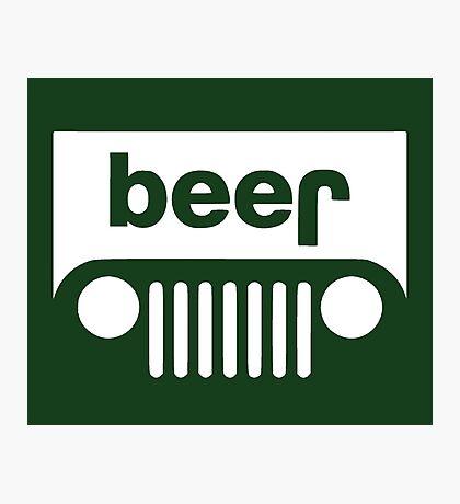 Beer Jeep Photographic Print