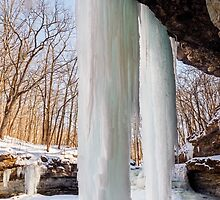 Massive Icicles in Canyon by Kenneth Keifer
