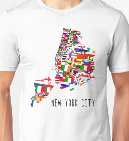 United Flags of New York City Unisex T-Shirt