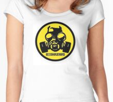 BIOHAZARD mask Women's Fitted Scoop T-Shirt