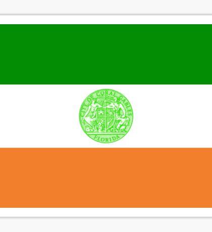 Coral Gables Flag Miami South Florida Sticker