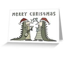 An Iguana Fancy Dress Christmas Greeting Card
