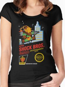 Super Shock Bros Women's Fitted Scoop T-Shirt